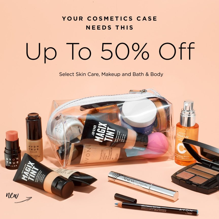 Save up to 50% Off on select skin care, makeup and bath & body at Avon https://www.avon.com/myavon/mybeauty?rep=mybeauty