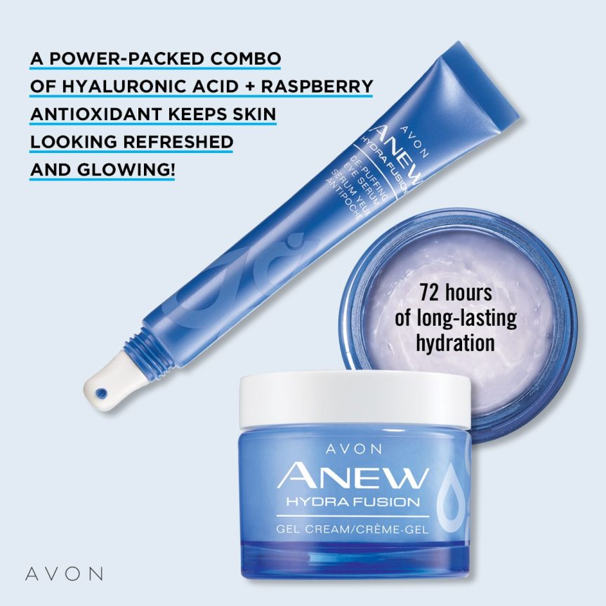 Avon Anew Hydra Fusion line of product.  Purchase 2, get the Eye Serum Free: https://www.avon.com/promotions/20505?rep=mybeauty