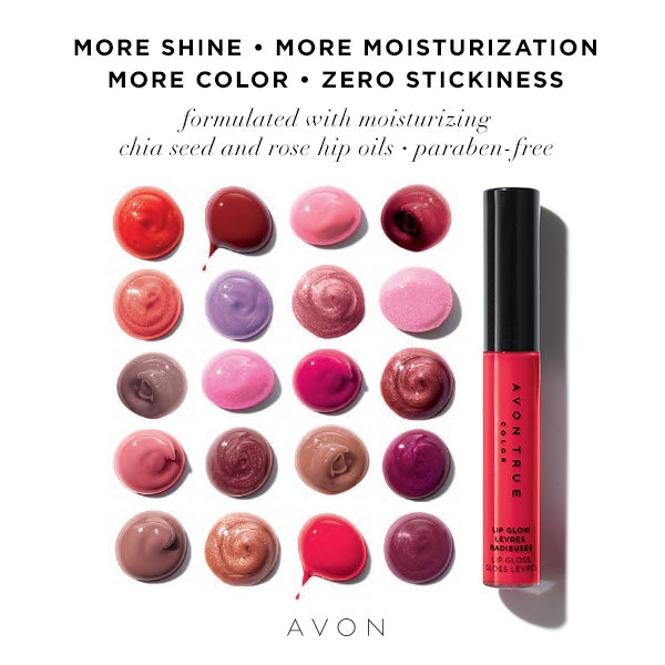 Avon Lip Glow Lip Gloss with full color and great shine. https://www.avon.com/product/avon-true-color-lip-glow-lip-gloss-61151?rep=mybeauty