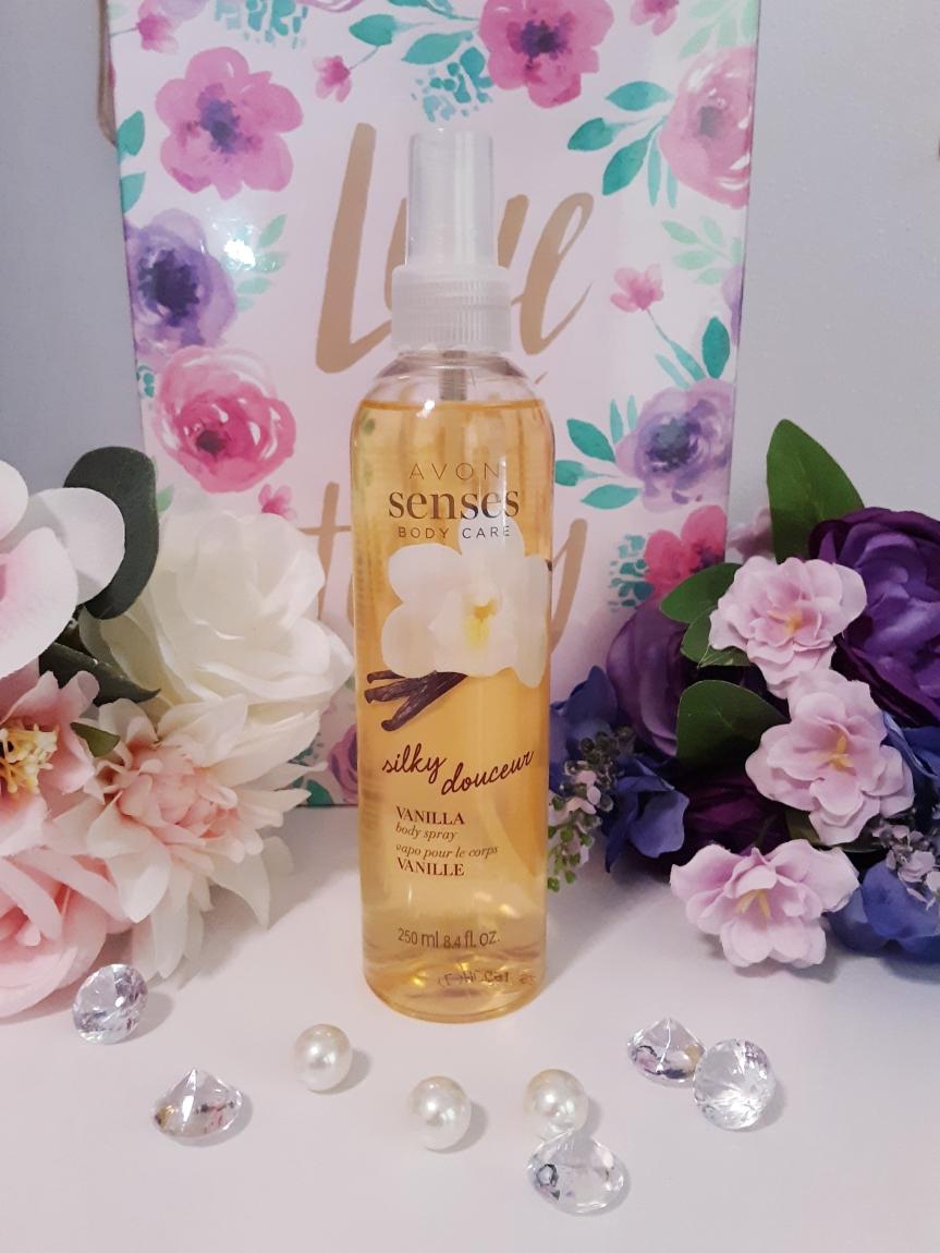 Delicious Vanilla Body Spray from Avon https://www.avon.com/product/avon-senses-silky-vanilla-body-spray-55339?rep=mybeauty