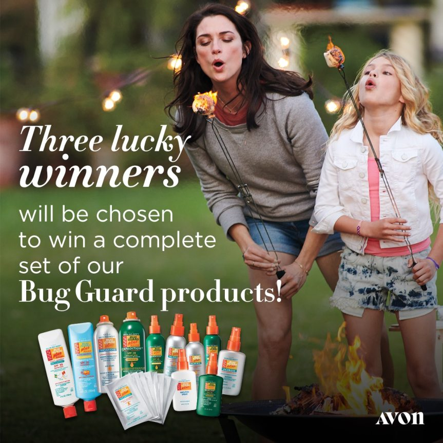 3 Winners will be chosen to win a complete set of Avon Bug Guard Products! https://sweeps.youravon.com/mybeauty/bug-guard