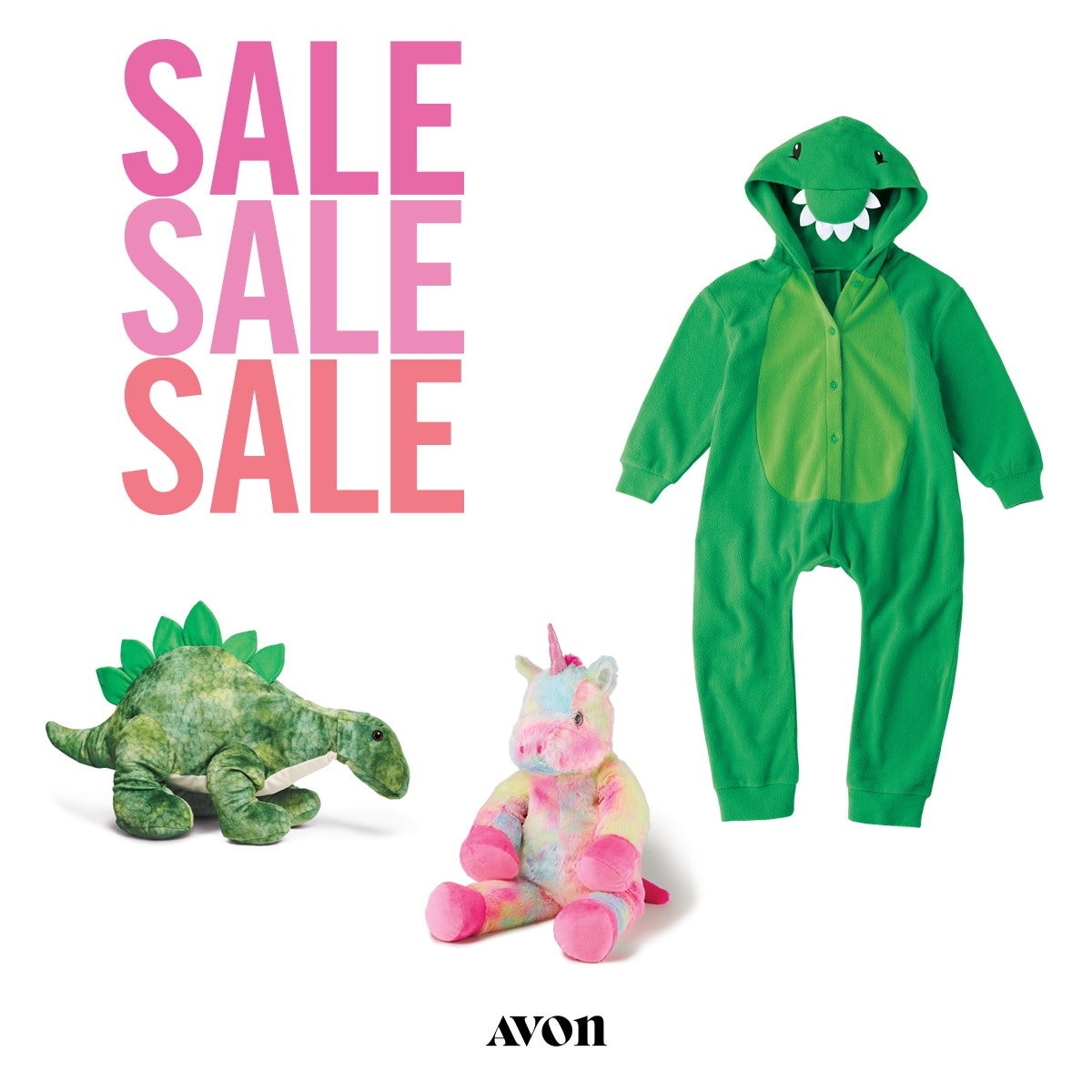 Dinosaur Playsuit and Toys from Avon's huge Sale, Campaign 15