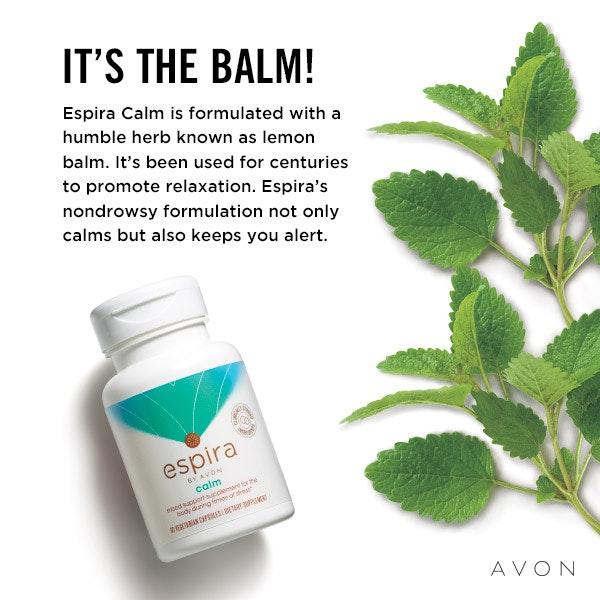 Avon's Espira Calm capsules.
