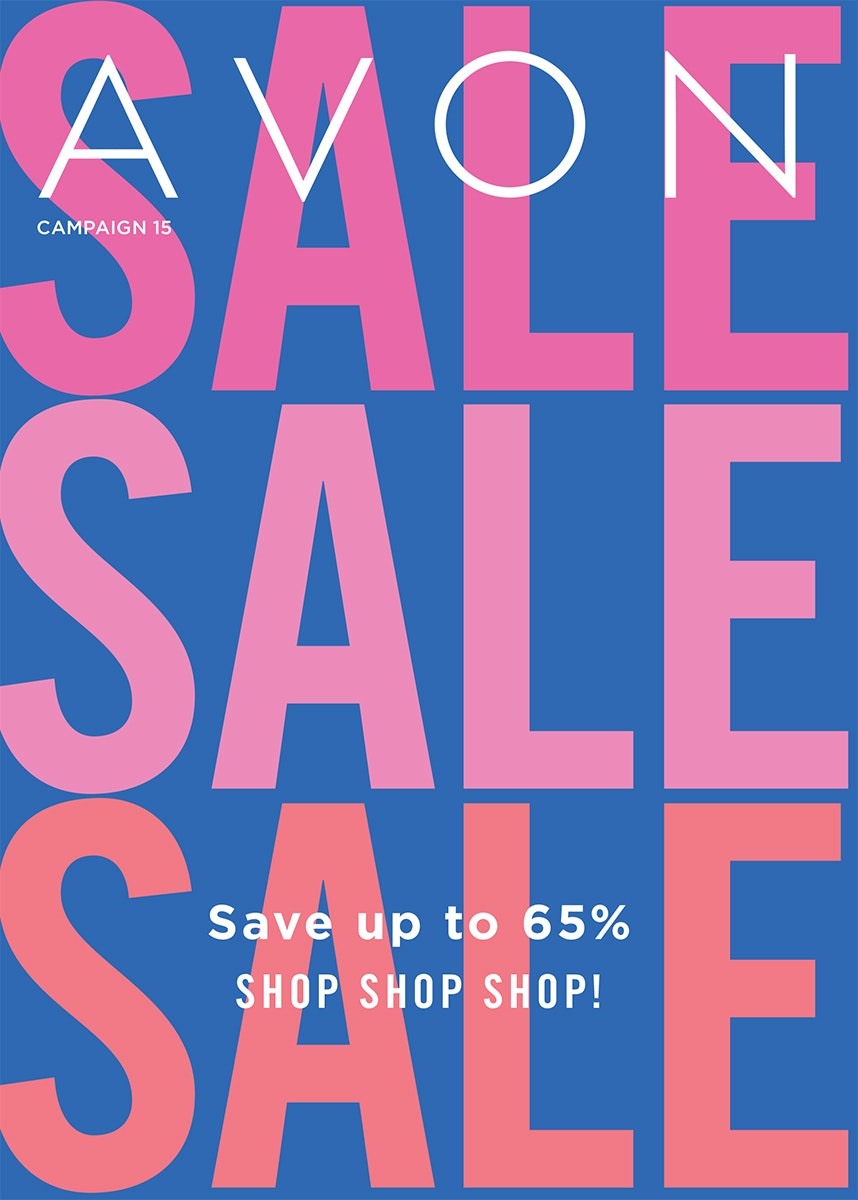 Avon Campaign 15 is now active! Save up to 65% Sale!