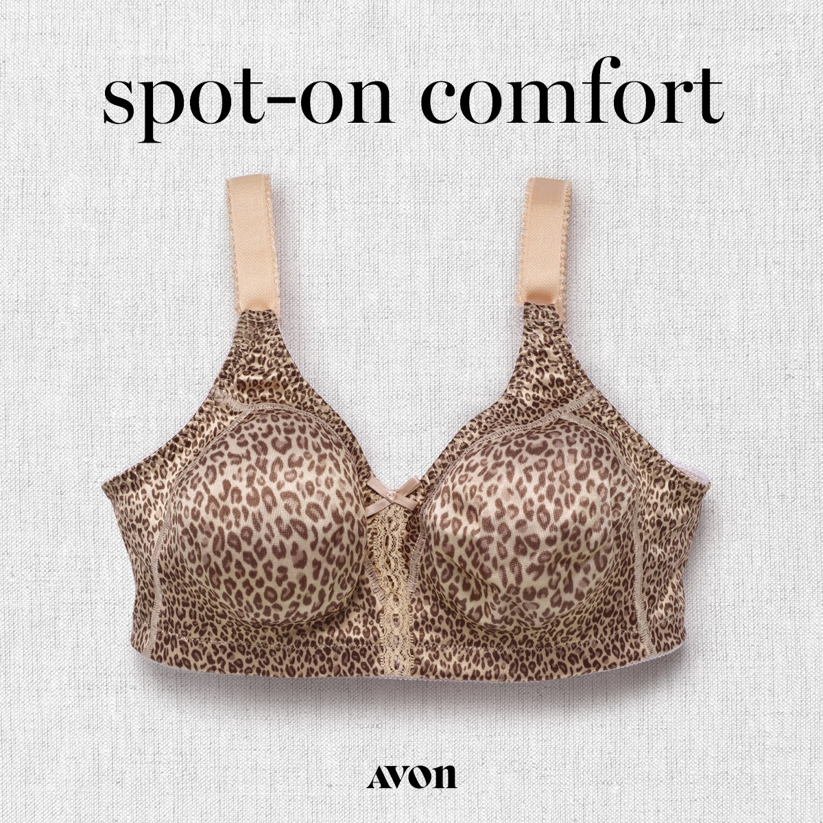 Bali Double Support Wirefree Bra in Sexy Animal Print. https://www.avon.com/brochure?rep=mybeauty 2 for $50.00 page 177