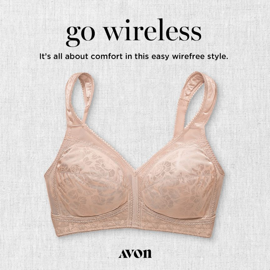 Playtex 18 Hour Original Comfort Strap Wirefree Bra.  Page 179 in C16 online Brochure. https://www.avon.com/brochure?rep=mybeauty  2 for $50.00 sale.