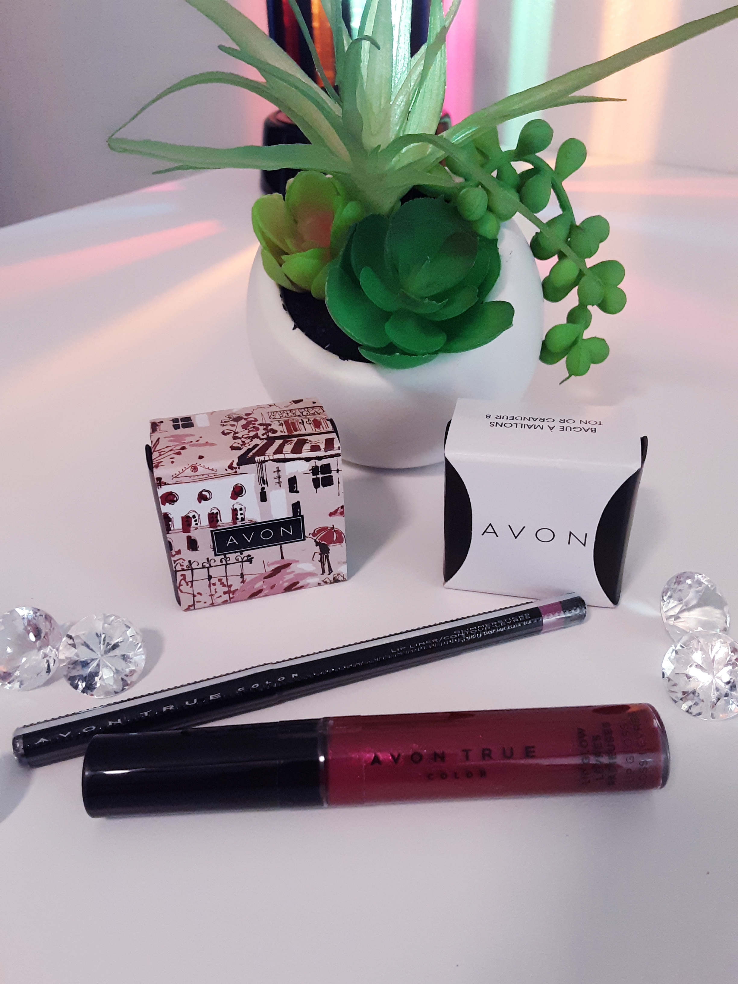 Avon Lip Glow Lip Gloss and Glimmersticks Lip Liner