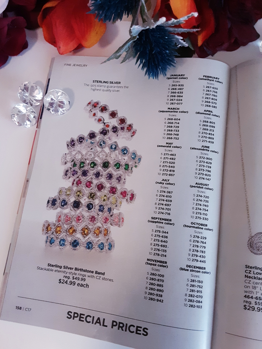Silver Stackable Birthstone Rings from Avon. $24.99 each sale