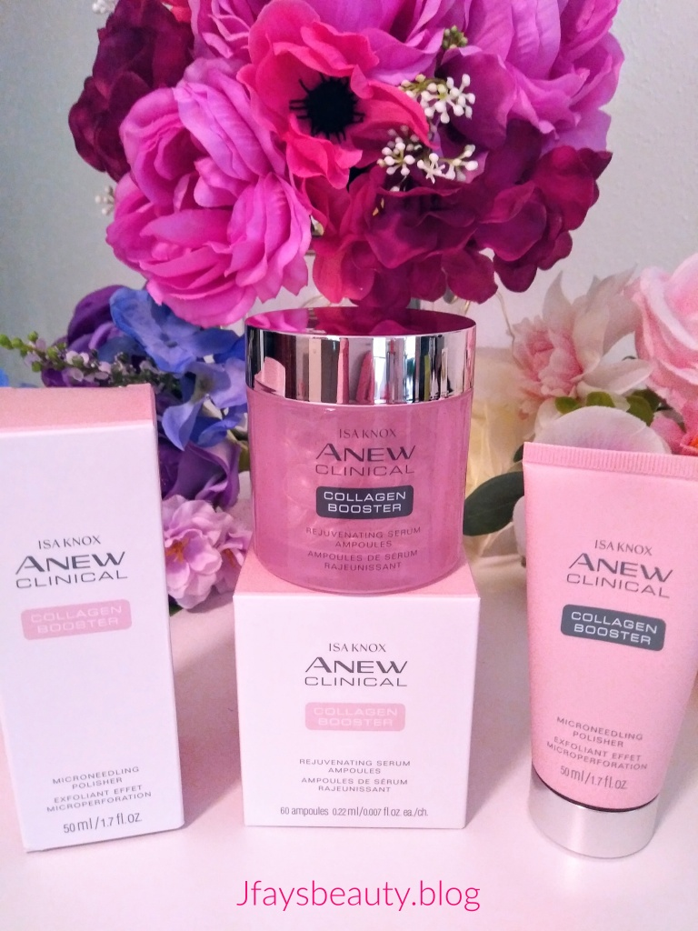 Anew Isa Knox Collagen Booster Serum and Microneedling Polisher.  This is a super fantastic duo for silky smooth, beautiful skin.