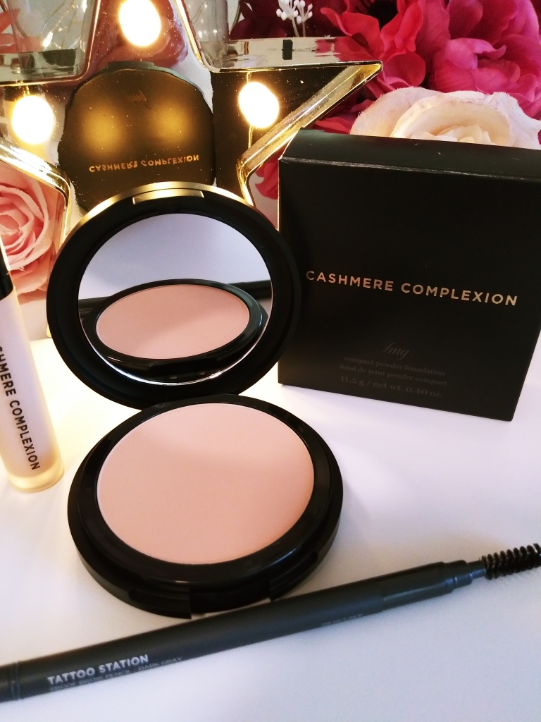 FMG Cashmere Complexion Powder Foundation.  This is my favorite makeup foundation.  Full coverage without being heavy.