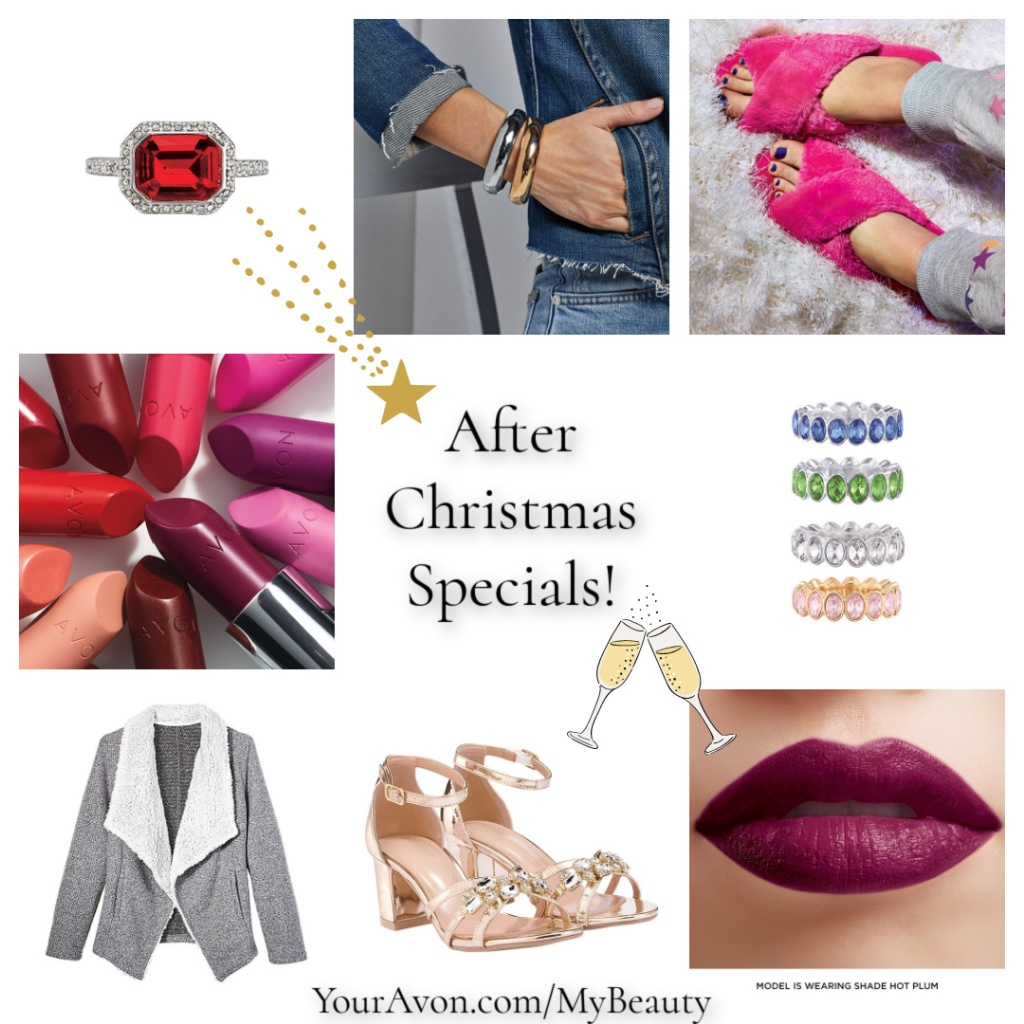 After Christmas Specials and Sales on Makeup, Jewelry and Fashion from Avon