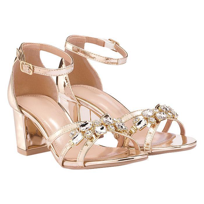 Gold Bling Sandals