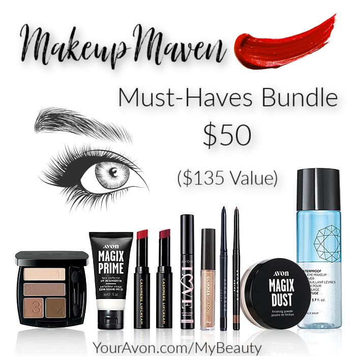 Makeup Mavens Must-Haves Bundle deal $135.00 value for $50.00 from Avon