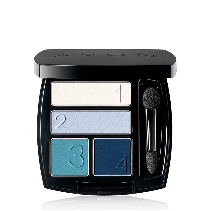 Tranquility Blue Matte Eyeshadow Quad from Avon