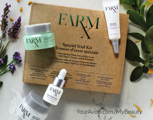Farm RX Special Trial Kit.  Super Green Ingredients Skin Care Line from Avon
