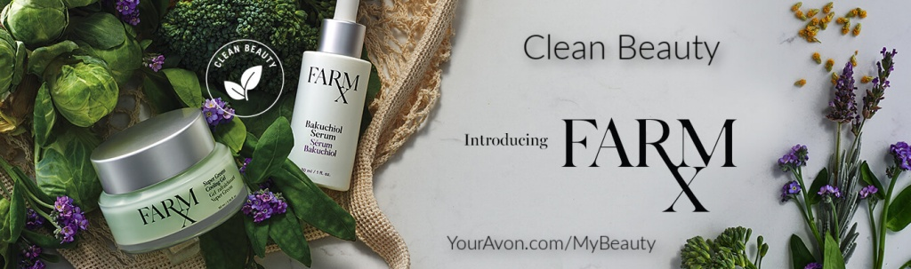 New Farm RX Clean Beauty Natural Skin Care Line from Avon made with Super Greens