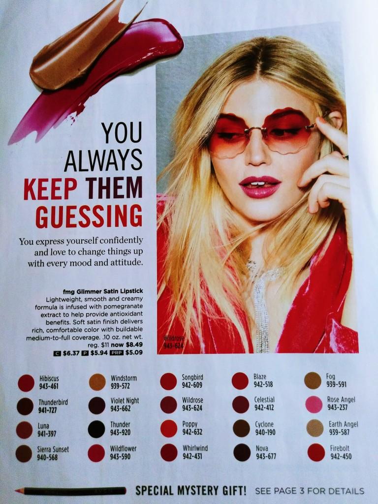 New Glimmer Satin Lipstick Shades
