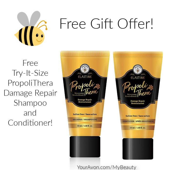 Free Gift Offer.  Try it size Propli Damage Repair Shampoo and Conditioner from Avon