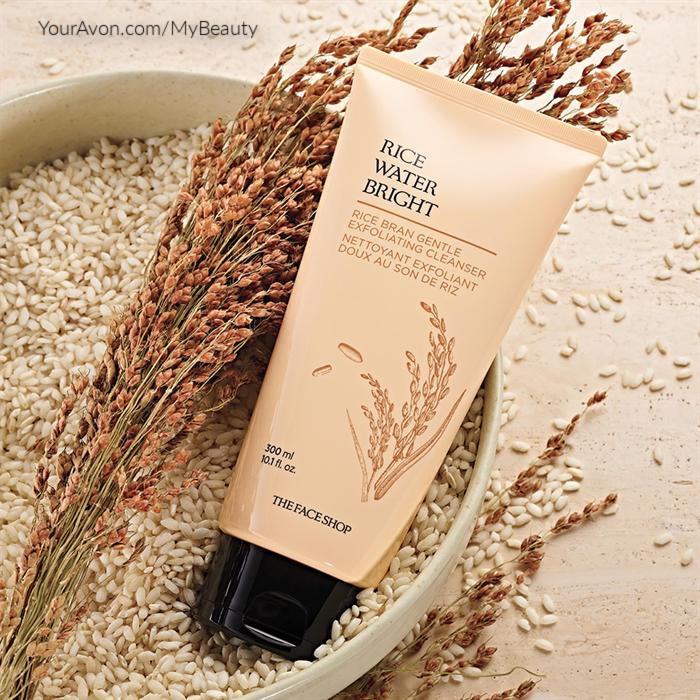 Rice Water Bright Rice Bran Gentle Exfoliating Cleanser from Avon