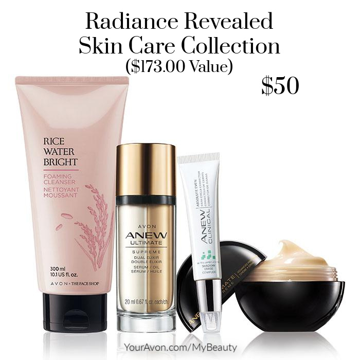 Radiance Revealed Skin Care Collection from Avon.  $173 value for $50
