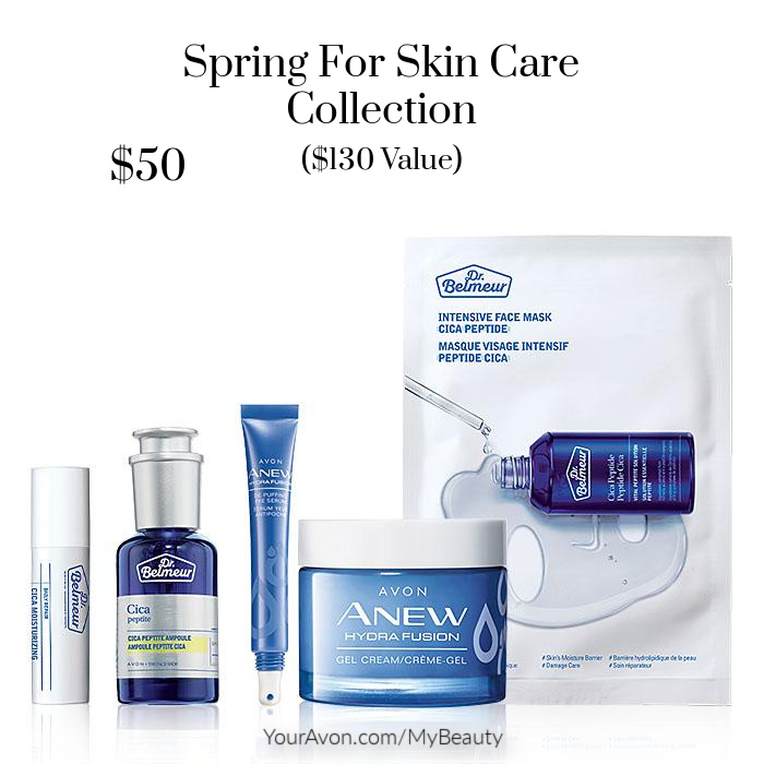 Spring For Skin Care Collection. $130 value for $50.  From Avon