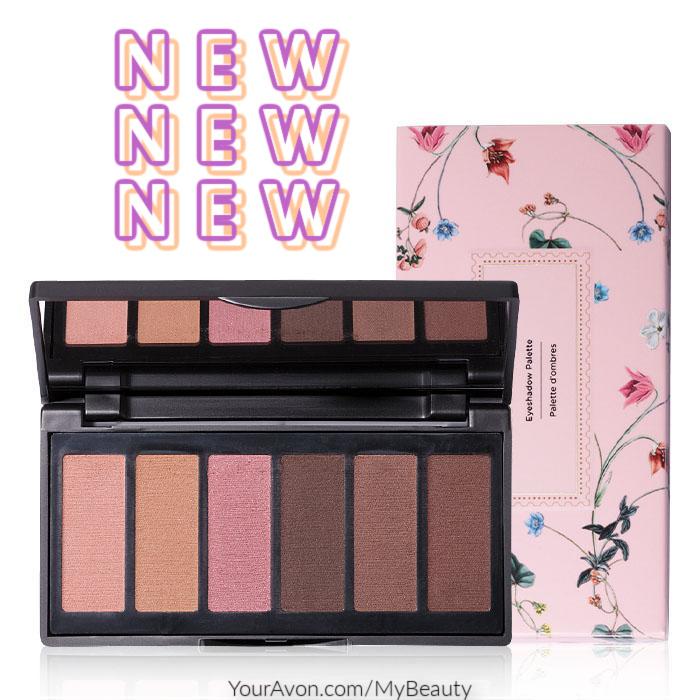 New fmg Caress Me Cashmere Eyeshadow Palette from Avon.   Creamy eyeshadow palette featuring six buildable nude tones. Talc free.