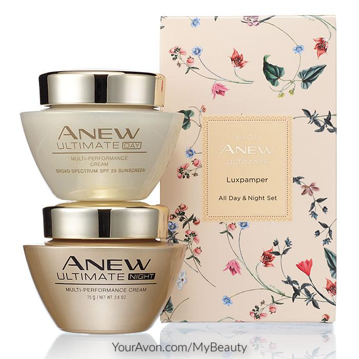 Anew Ultimate Multi-Performance Day and Night Cream gift boxed set for Mother's Day.