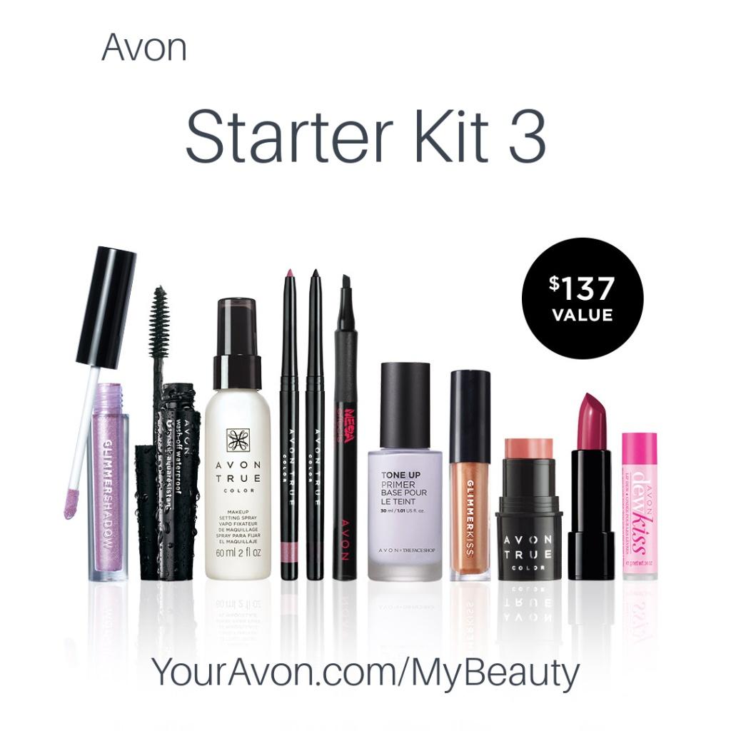 Avon Starter Kit 3 for new Representatives.