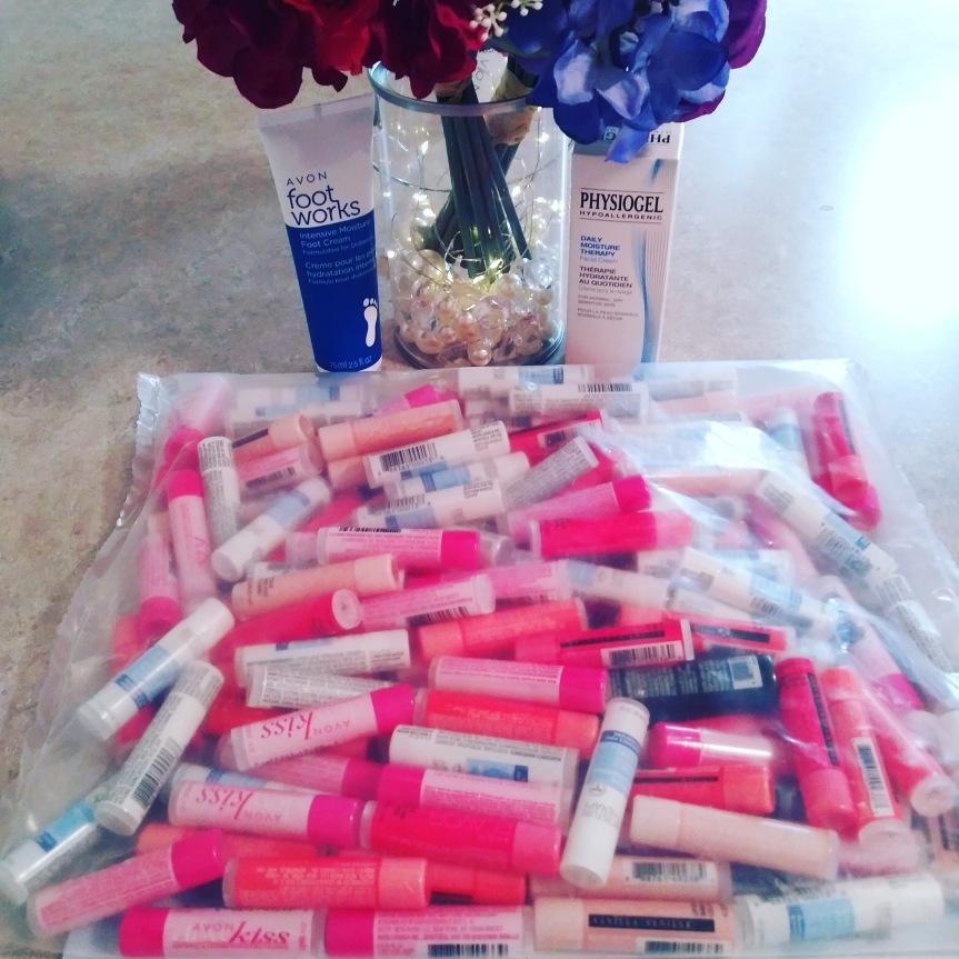135 lip balms bundle from Avon new Representative reward.