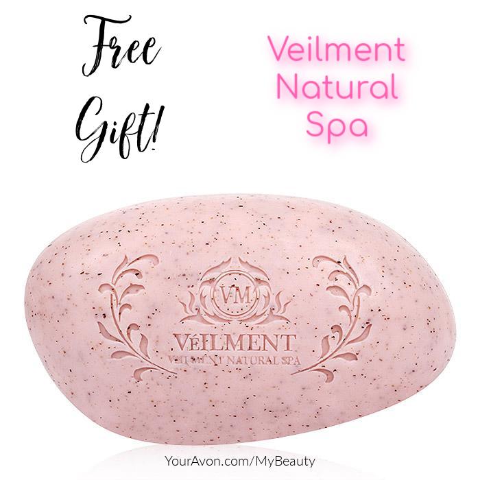 Veilment Natural Spa Himalaya Pink Salt  Exfoliating Soap.