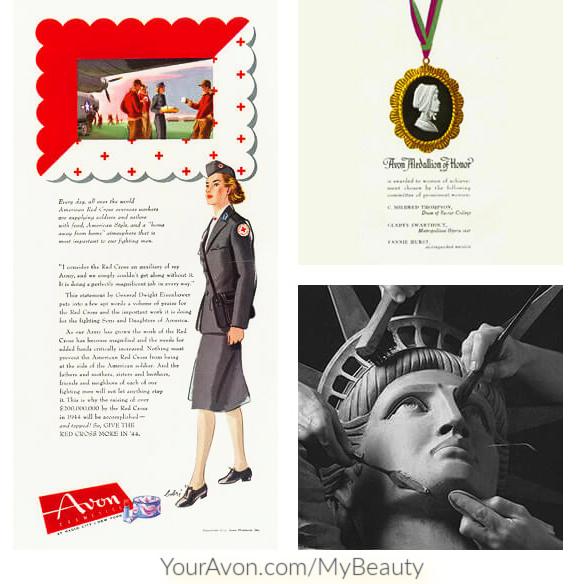 Avon's patriotic WWII history.