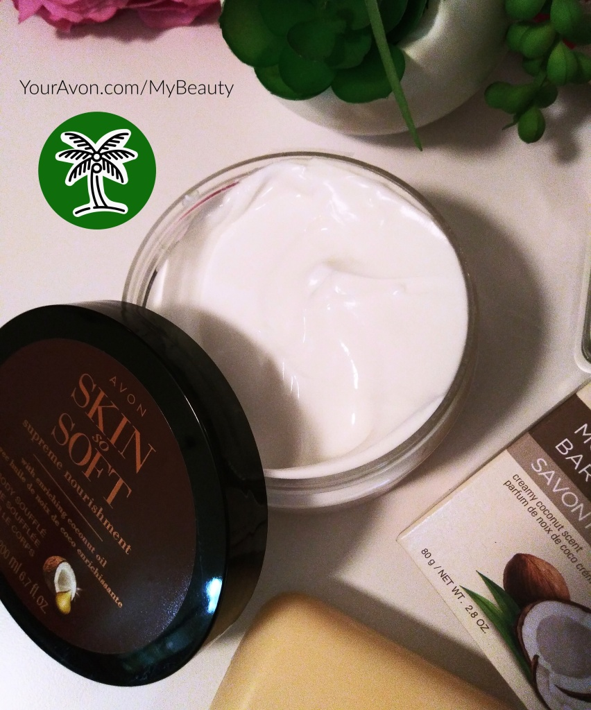 Very rich Coconut Oil Body Souffle'.  Very luxurious and moisturizing.