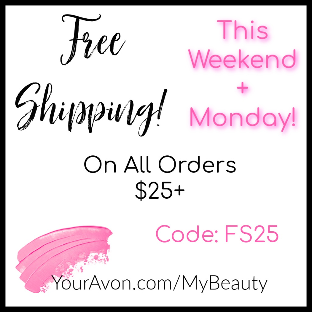 Memorial Day free shipping offer from Avon.   youravon.com/mybeauty