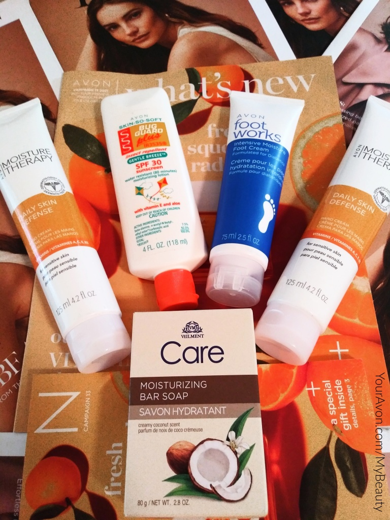 Avon lotions and Skin So Soft Bug Guard.  Get your skin Summer ready.