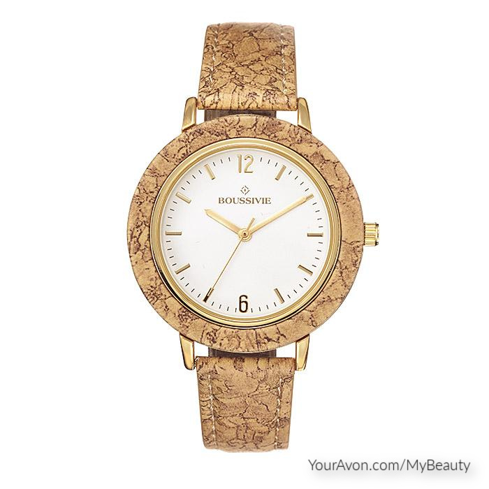 Natural Beauty Strap Watch with the look of cork.