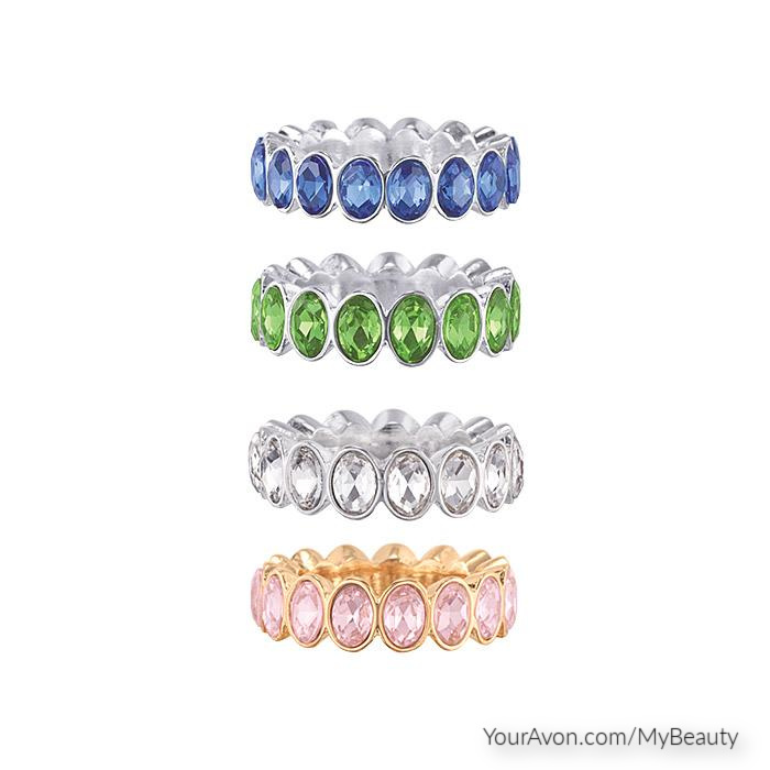 CZ Eternity Band Rings