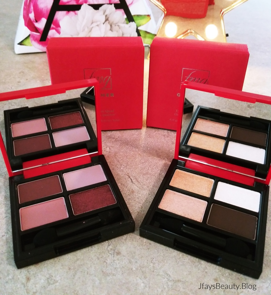 New fmg Glimmer Eyeshadow Quads from Avon in Muse and Goddess.
