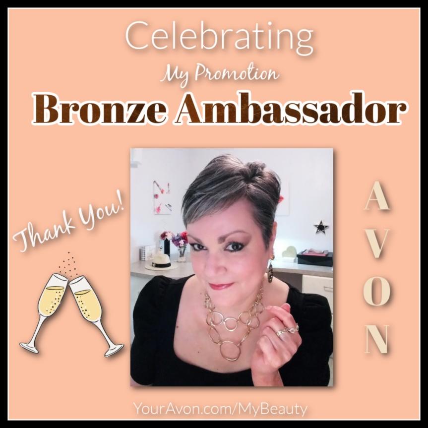 Celebrating my Avon Promotion to Bronze Ambassador.  Johanna (Jfay) Bustamento, Jfay's Beauty Blog.