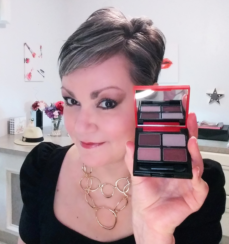 Rich berries and browns in the Muse Eyeshadow Quad from Avon.