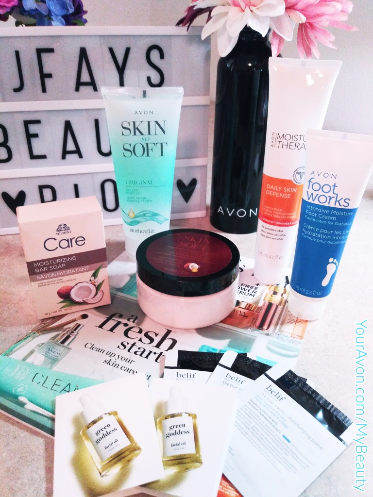 Avon Bath and Body products.
