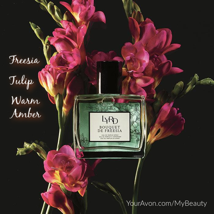 LYRD Bouquet de Freesia Parfum from Avon with Freesia, Tulip, and Warm Amber.
