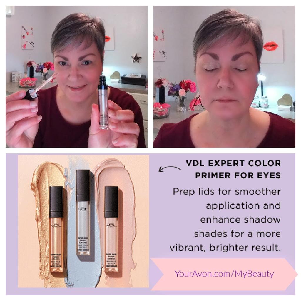 Trying Avon's new VDL Expert Color Primer for Eyes, in Shimmer.