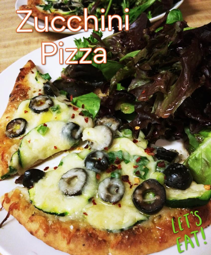 Zucchini Pizza on Garlic Naan Bread Recipe from Jfay's Beauty Blog