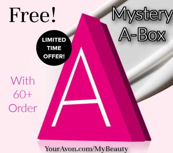 Free Mystery A-box from Avon offer.