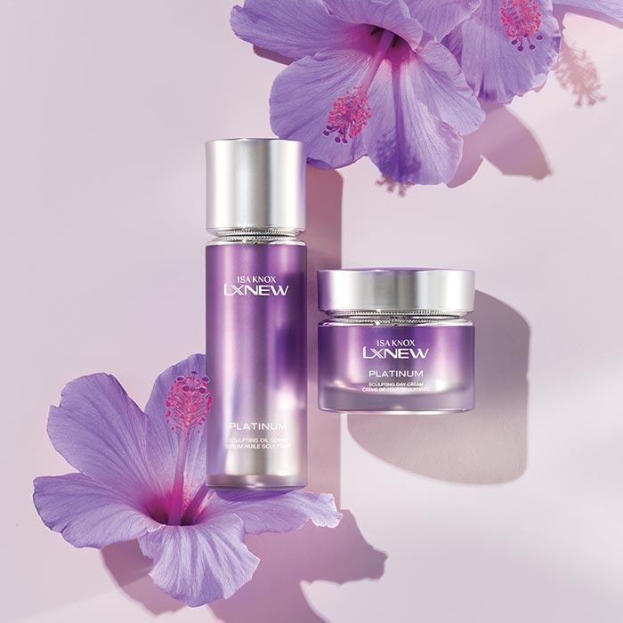 Isa Knox LXNEW Platinum Sculpting Serum and Day Cream coming soon from Avon.