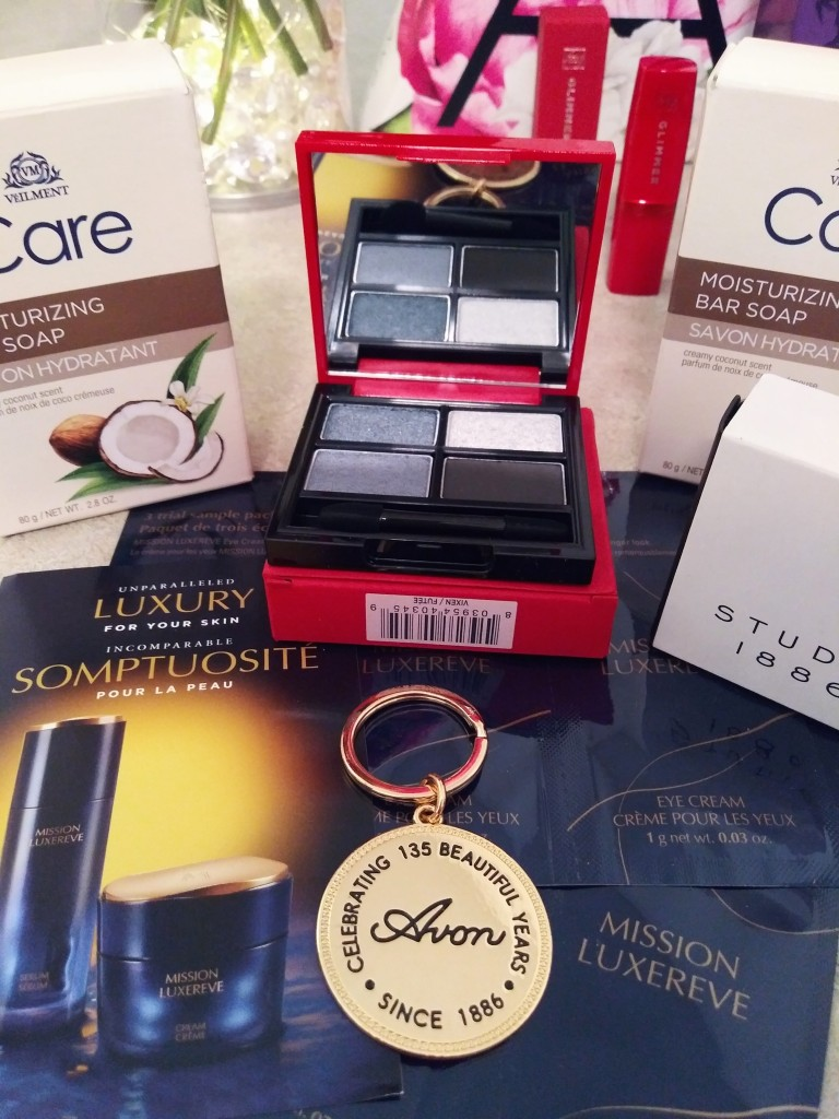 Avon Beauty Haul with Mission Luxereve Luxury Skin Care and Glimmer Eyeshadow Palette from Avon.