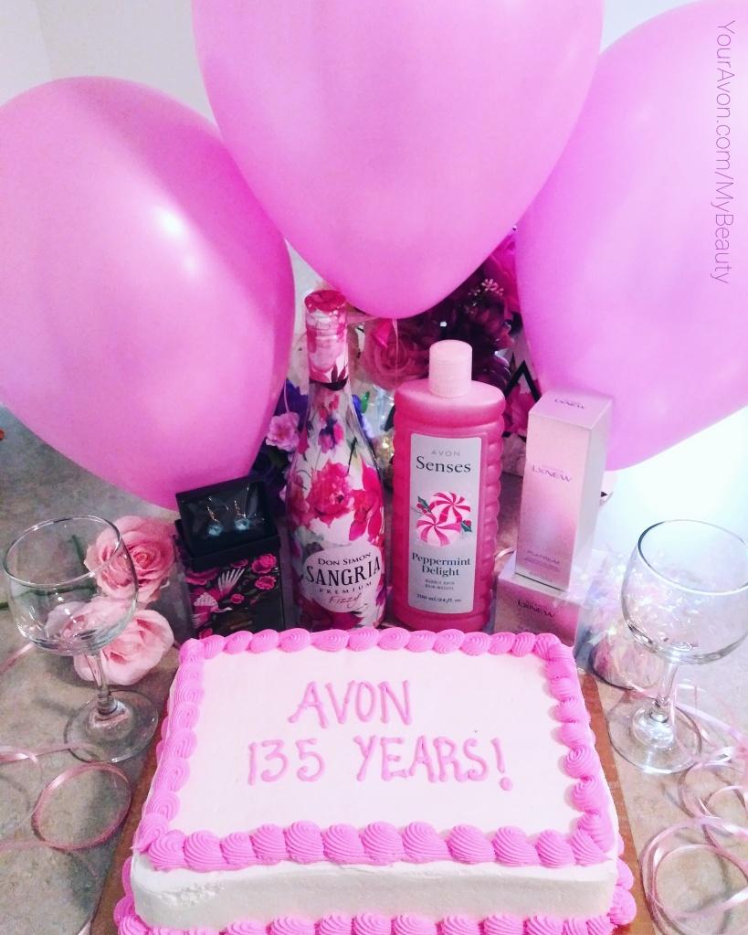 Avon 135 years celebration cake.