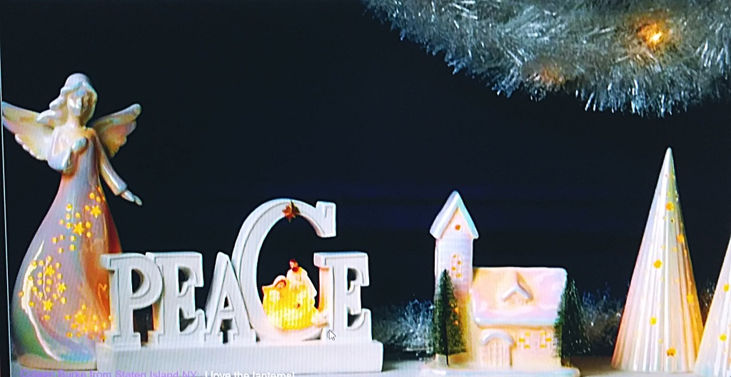 Lighted Christmas decor from Avon