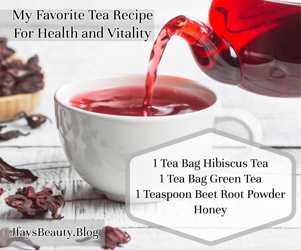 Hibiscus tea blend recipe from Jfays Beauty Blog