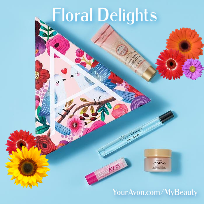Floral Delights A-Box from Avon.  Beauty Box for $10 with $40 purchase.